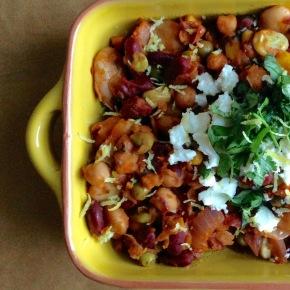 Harissa beans one-potsupper