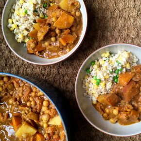 Yellow pea and sweet potatocurry